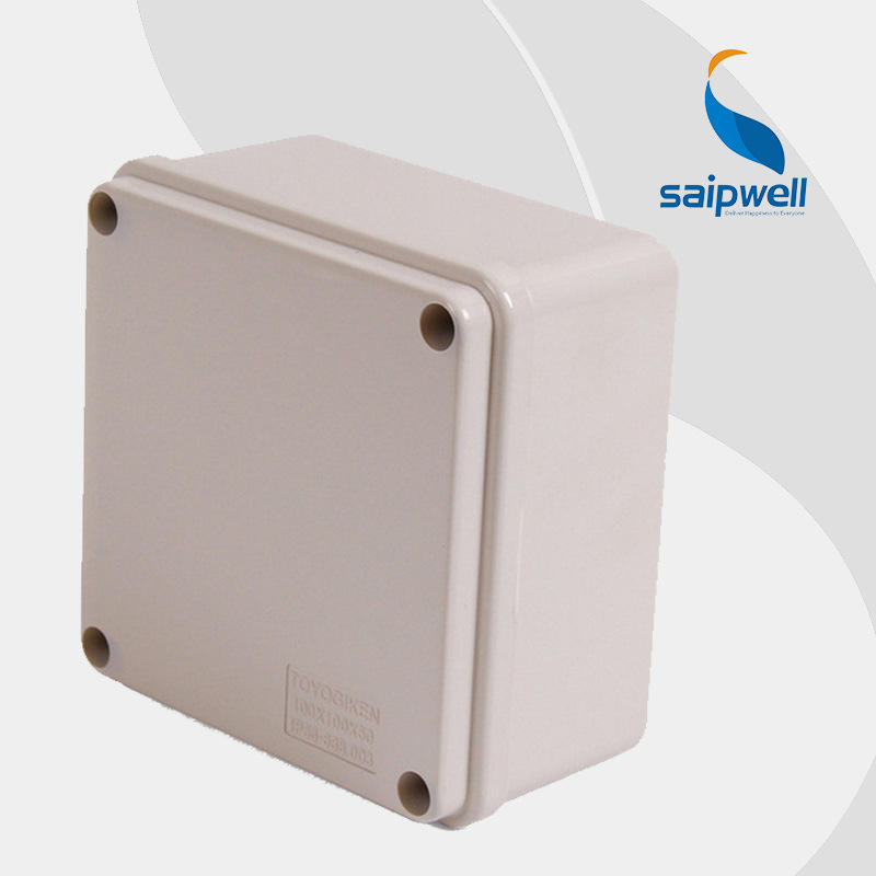 SAIPWELL Y IP66 DS-AG-1010-S 100*100*50 ABS Plastic Grey Cover Enclosure Outdoor Distribution Terminal Box