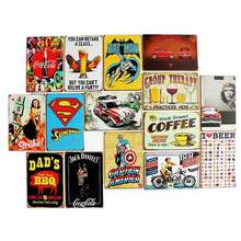 Decorative Wholesale Vintage Custom Metal Plate Printing Tin Metal Sign wall decoration