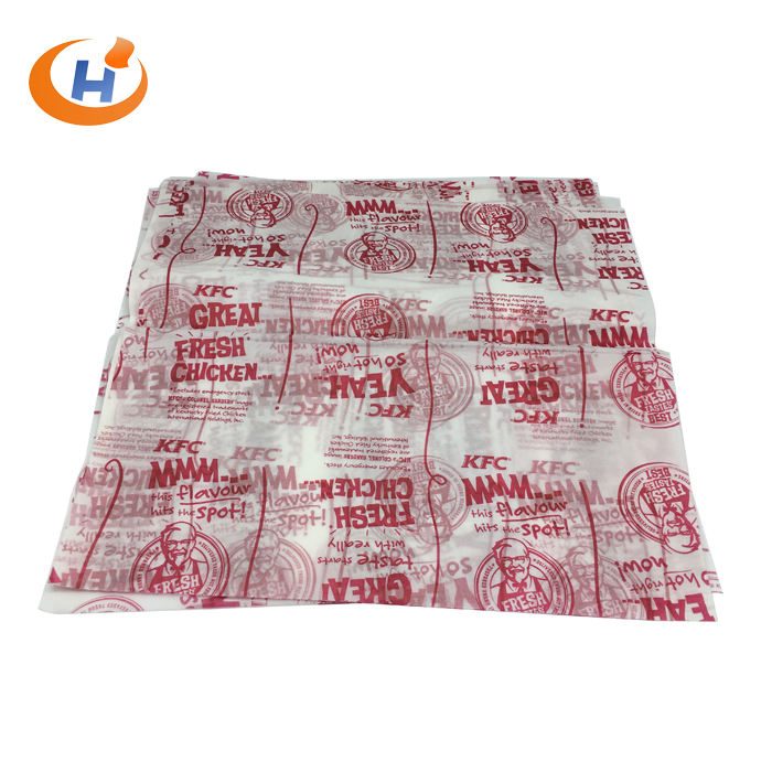 2019 Hot Selling Printed Sandwich Burger Wrap Paper Greaseproof Wrapping Paper In Food Grade