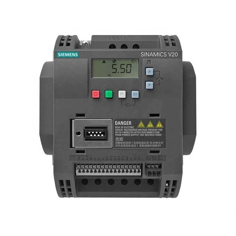 Siemens SINAMICS V20 ac drive 380-480 V 3AC -15%/+10% 4 kW 6SL3210-5BE24-0UV0 with 150% overload for 60 sec