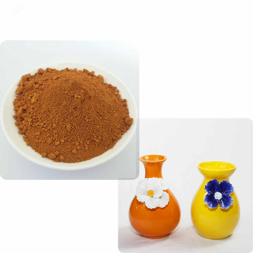ceramic stains ogange iron oxide 960 color powder for ceramic glaze enamel