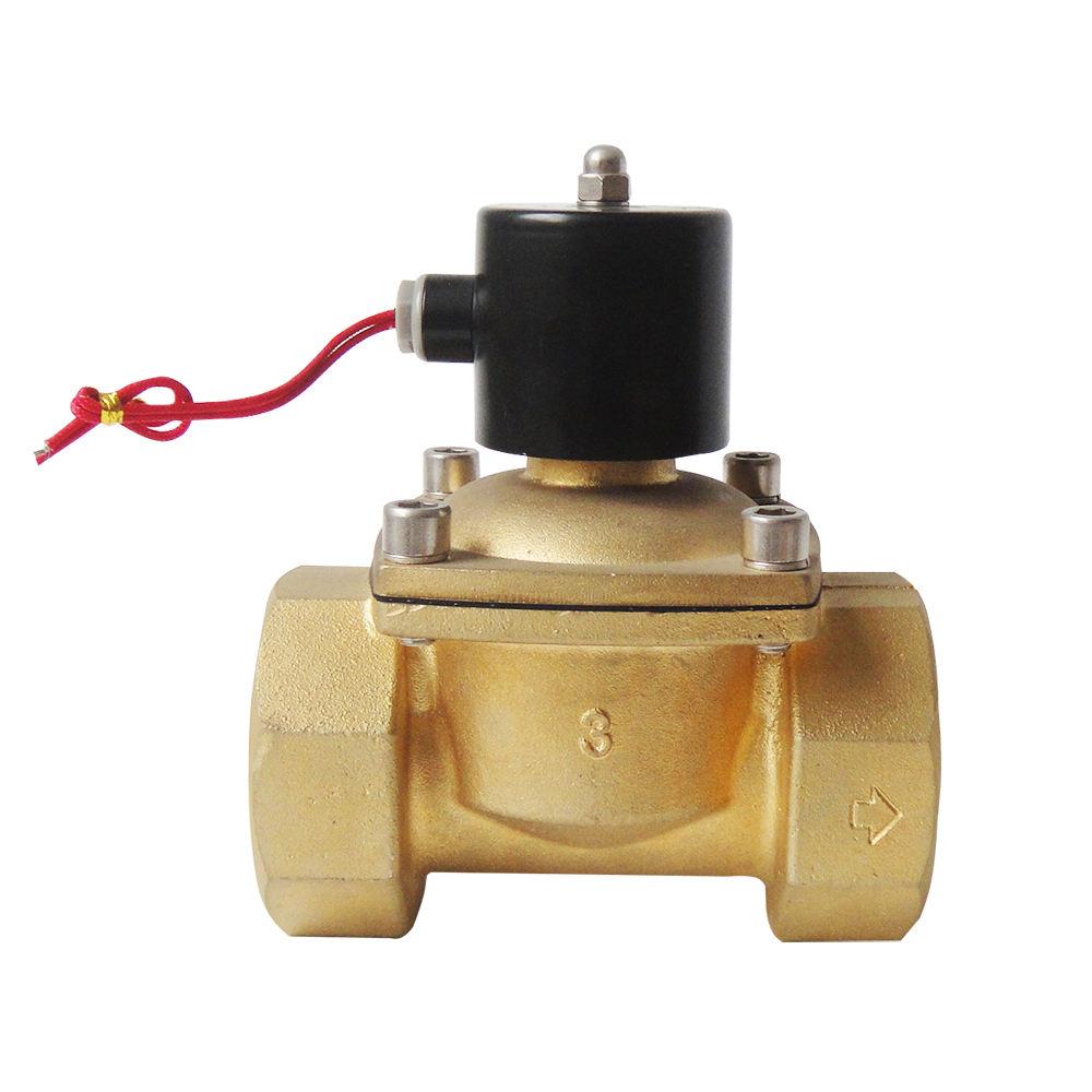 """1 piezas de aire acondicionado 110V 1//8/"""" Eléctrica Solenoide Válvula Aire Agua N//C Aire Agua Gas 2W025-06"""