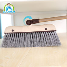 BOOMJOY wind-proof 180 rotation PP plastic Broom and dustpan set
