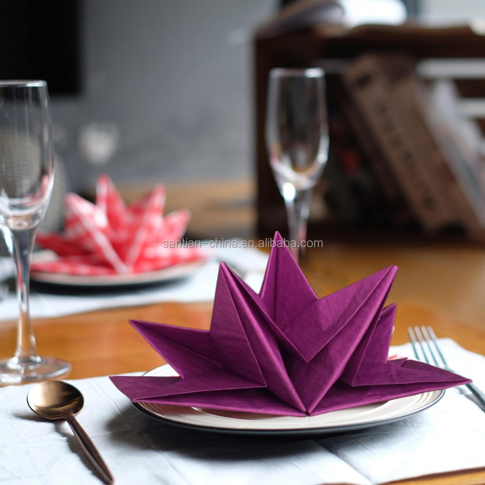 3 Ply [ Paper Napkin ] Pre Folded Paper Napkin Brilliant Banquet Pre Folding Paper Napkin Pre Fold Napkin For Weddings