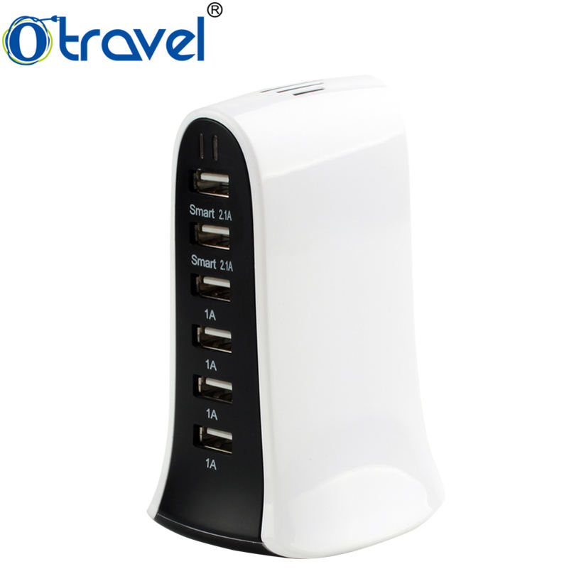 2017 cool producten reislader voor telefoon accessoires 6 USB multi port laadstation 5 V 8A