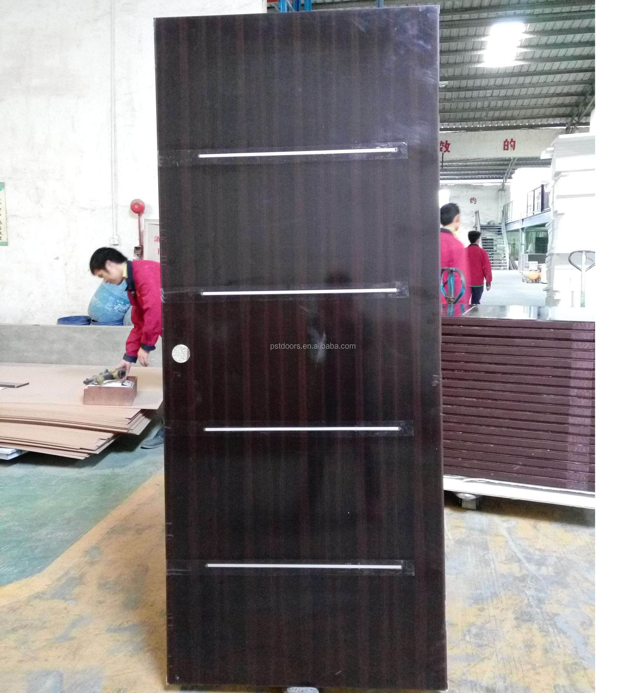 CHEAP PRICE!!!PVC laminated steel panel door used interior