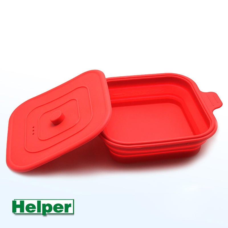 Best Selling Hot Resistant Food Grade Silicone Tiffin Lunch Box