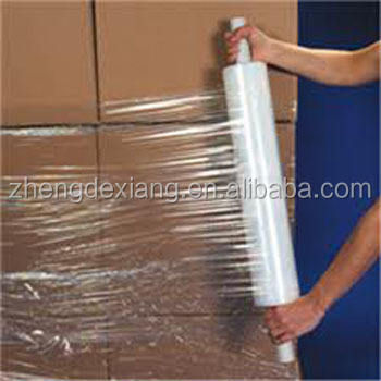 Clear Pallet Wrap on Extended Core