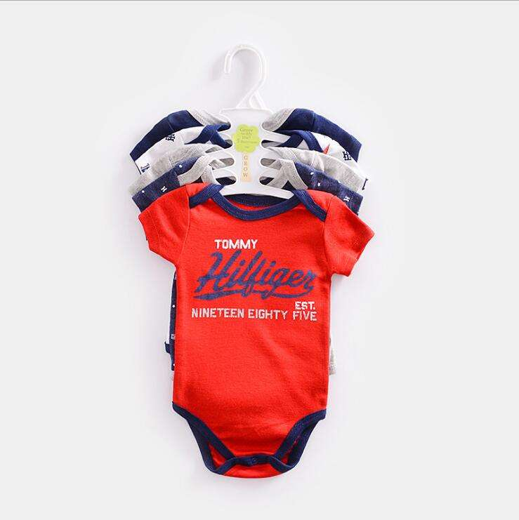 Wholesale plain cotton onesie baby clothing knitted sets 5pcs