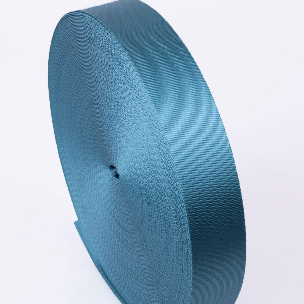 2 inch sky blue flat nylon webbing for car seat belt