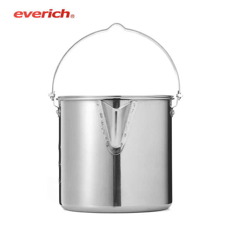 Everich Bar Counter Double Wall Insulated Metal Stainless Steel Wine Ice Bucket with Lid and Ice Tong