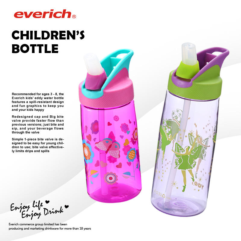 Eco-Friendly BPA Free Plastic Tritan Kids Water Bottle