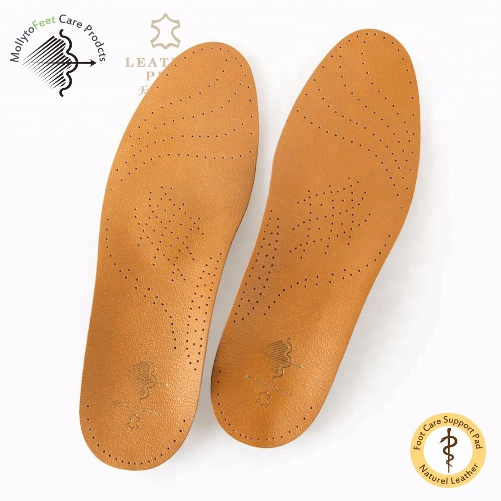 Sheepskin Leather Plastic Insole Arch Support Orthotic Shoe for Ladies/man
