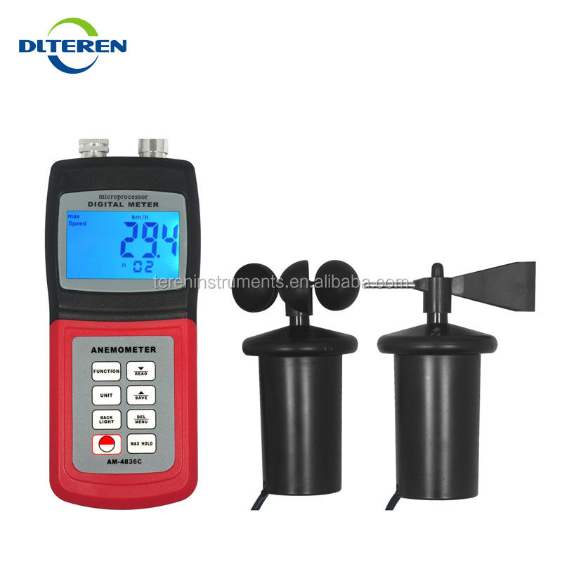Digital wind speed anemometer, electronic anemometer