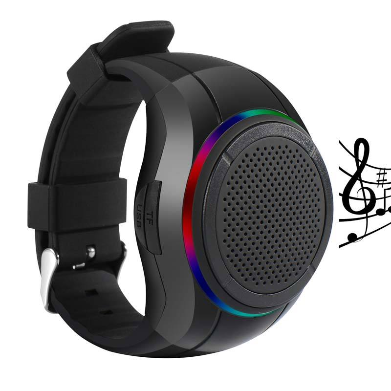 X10 Waterproof LED Zello Bluetooth Speaker Watch MP3 Music Player PTT Bracelet Mini Wearable Wireless Portable Bluetooth Speaker