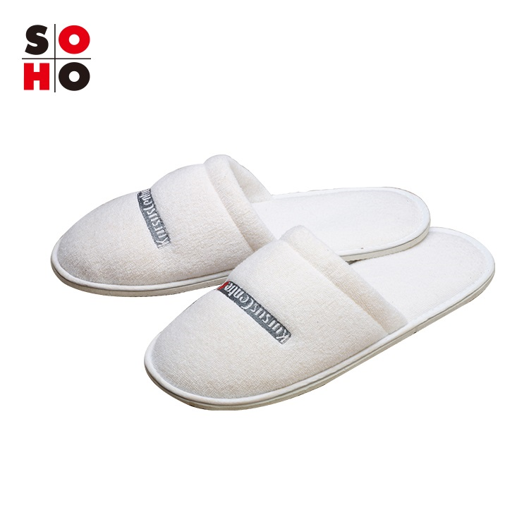 Cheap Disposable Coral Fleece hotel slippers