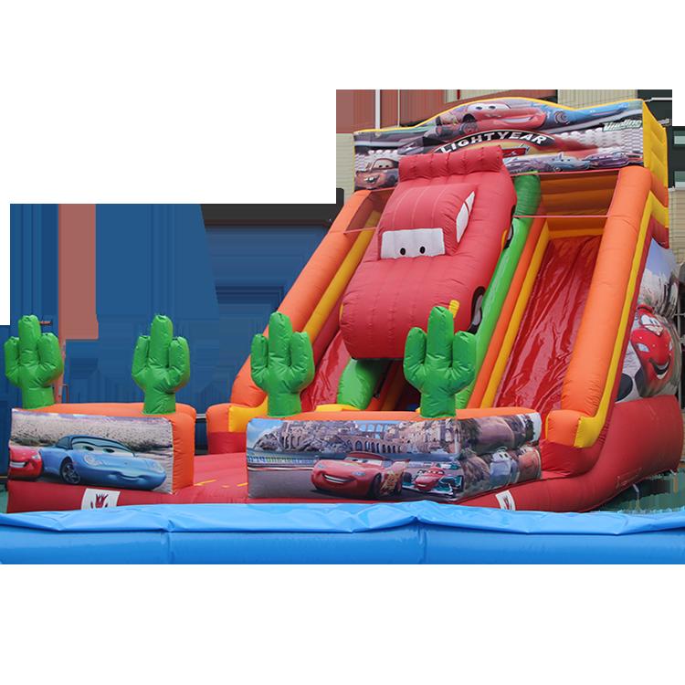 Mcqueens Xe Ô Tô Slide Inflatable Sân Chơi Đặc Biệt Cho Trẻ Em An Toàn Trượt Trò Chơi