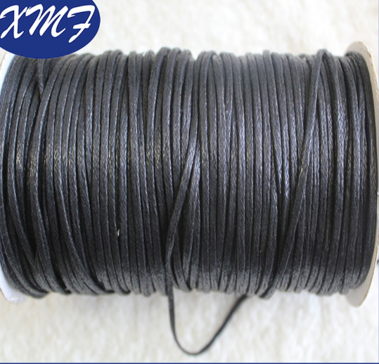 Flat 100% braided waxed cotton cord