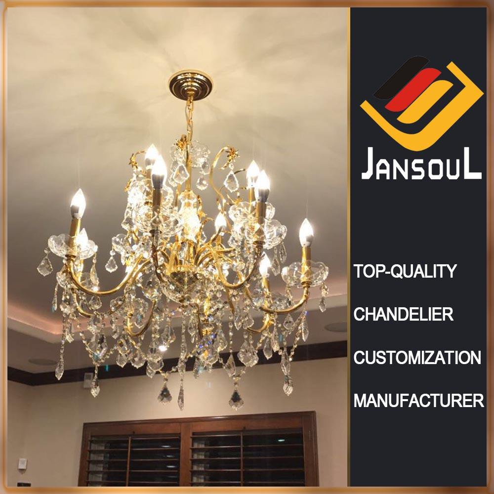 promotion discounted 24K gold plated egypte asfour crystal chandelier for bed room