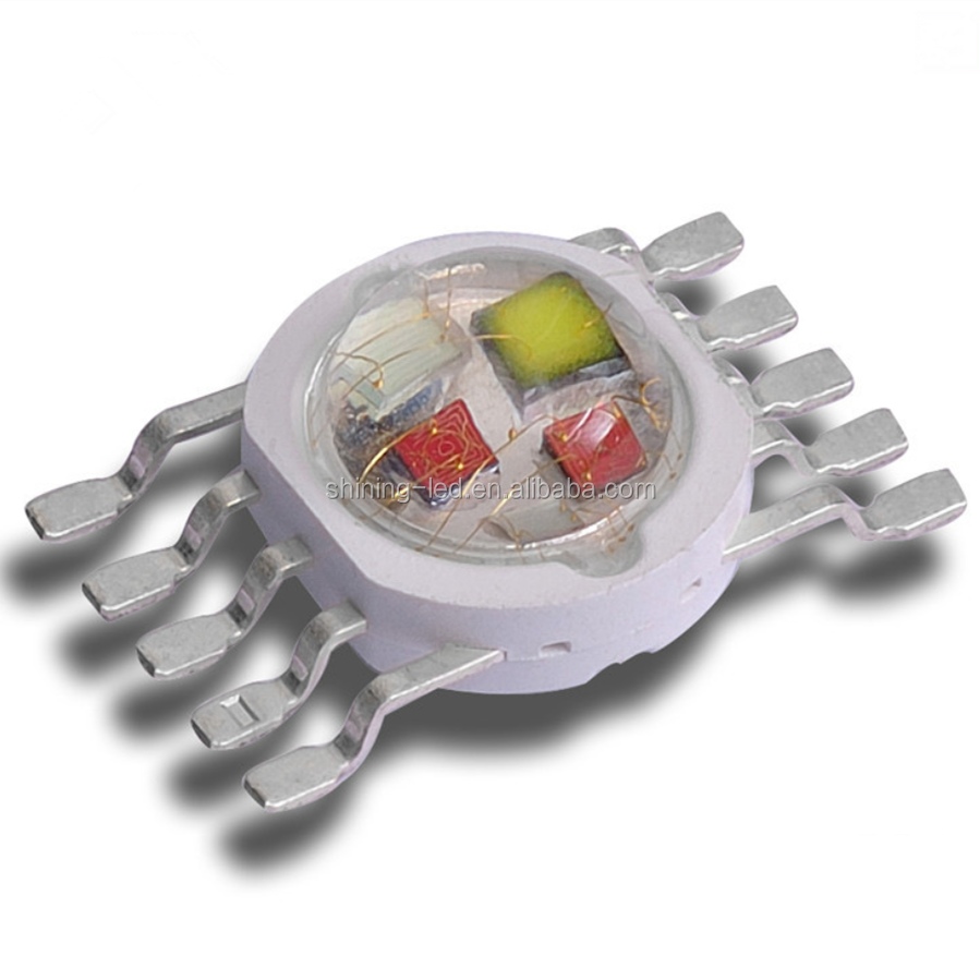 Multicolor Wall Washer Diode 5 Epileds Cores in 1 SMD 5W/10W High Power RGBWY or RGBWA 5in1 LED Chip
