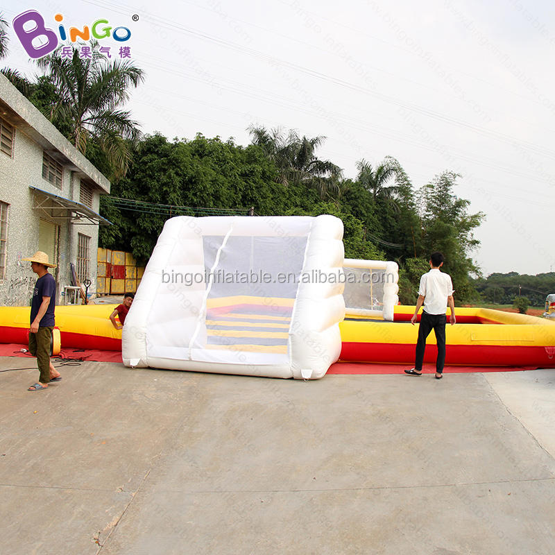 66 ft. Long giant inflatable football soap field for soccer game