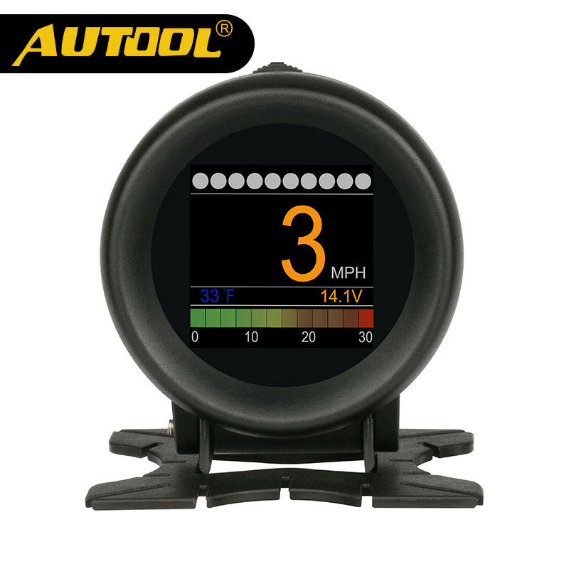 AUTOOL X60 OBD METER OBD 2 HUD Digital Temperature Gauge Digital Voltage Speed Meter Display Meter Alarm Water