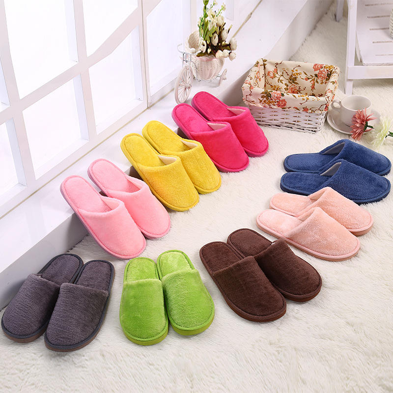 Hot EVA home indoor plush slippers cheap Autumn and winter warm slippers for men and women
