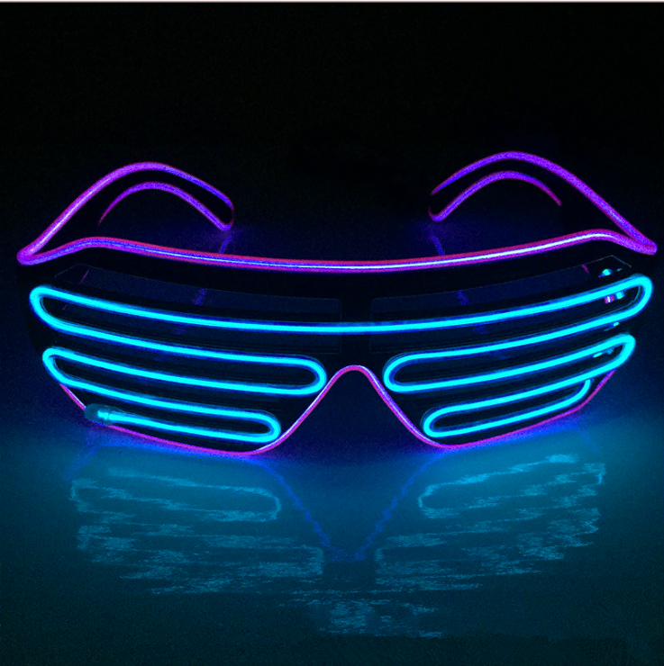 LED Light Up Funny Glasses The Great Festival Cosplay Costume Party Supplies Glasses Glow In Dark Halloween Party Glasses
