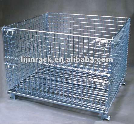 Mesh Wire Cage Metal Storage Container