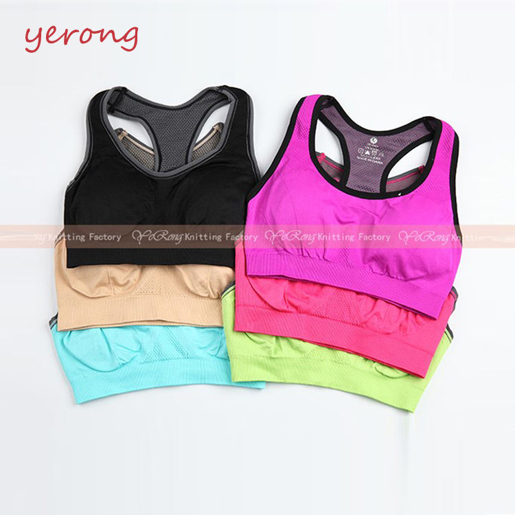 Sublimasi Kustom Tubuh Up Kebugaran Memakai Olahraga Seamless Ladies Fashion Bra Tops