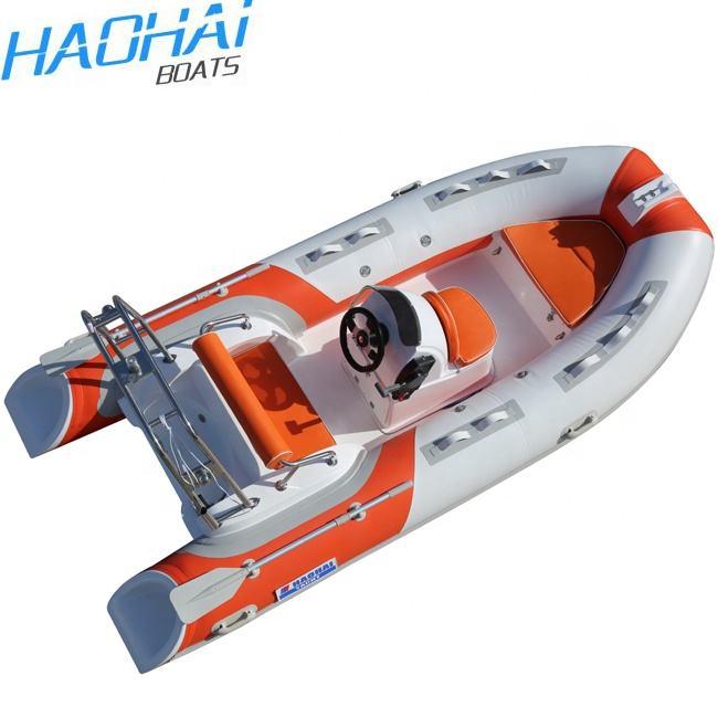 390cm Fiberglass Hull Inflatable Rowing Center Console RIB Boat