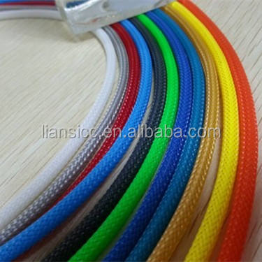 High density 4mm PET expandable braided flexible cable sleeving