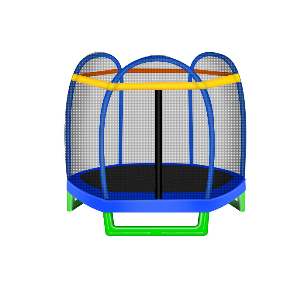 7 ft enclosed trampoline for kid sized trampoline is jump sport toys for children