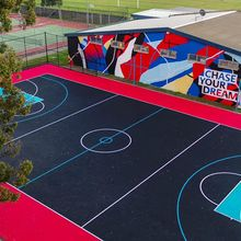 Polypropylene interlocking removable tiles,sports court tiles basketball court outdoor sport surfaces