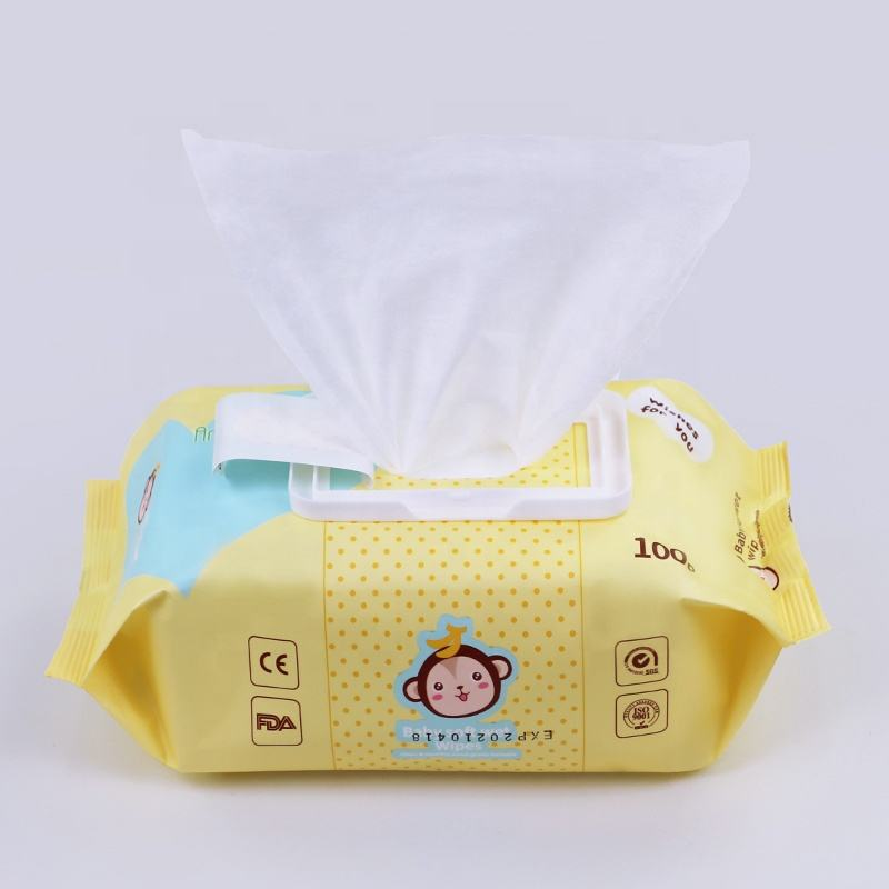 Sensitive Private Label Sachet Natural 45Gsm Bamboo China RO Water Soft Wet Baby Wipes