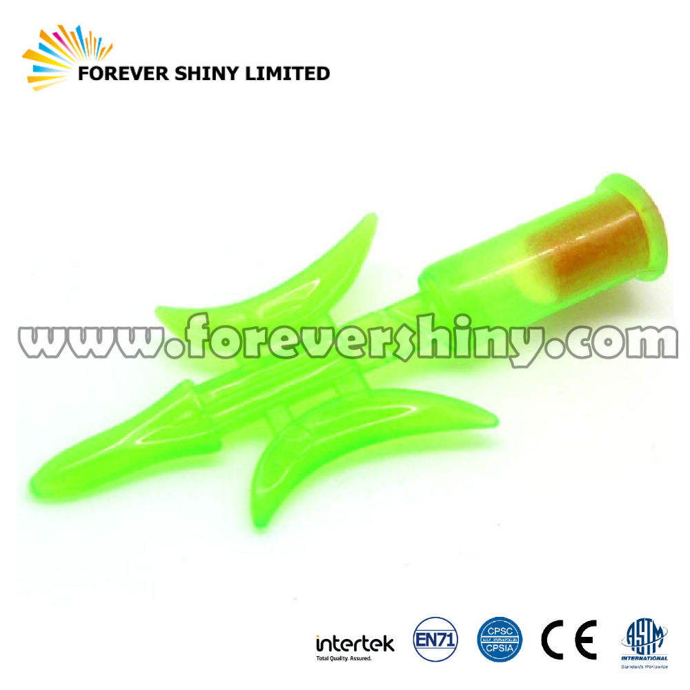 Promotional Gift Small Capsule Toy Plastic Emergency Camping Life Survive Weapon Style Whistle for Vending Machine