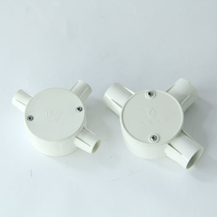High quality pvc pipe fitting moulds and low price Customized insulation four way circular box mould