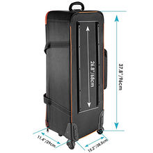 Photo Studio Equipment Trolley Carry Bag with Straps Padded Compartment Wheel, Handle for Light Stand, Tripod, Strobe Light, Umb