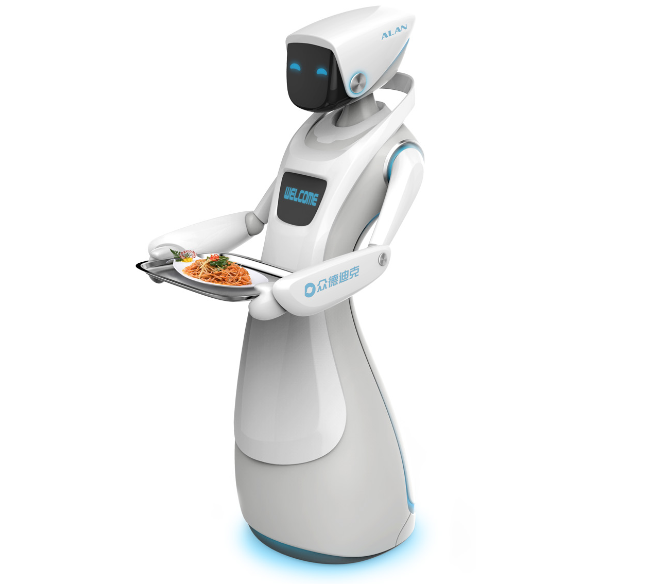 Comercial Service Robot Intelligent Robot for Businesses Catering Restaurant Service Waiter Robot Deliver