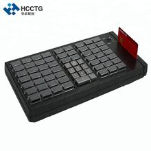 KB66M USB Latest 66 keys ISO7812 POS Programmable Supermarket Customizable Keyboard With MSR