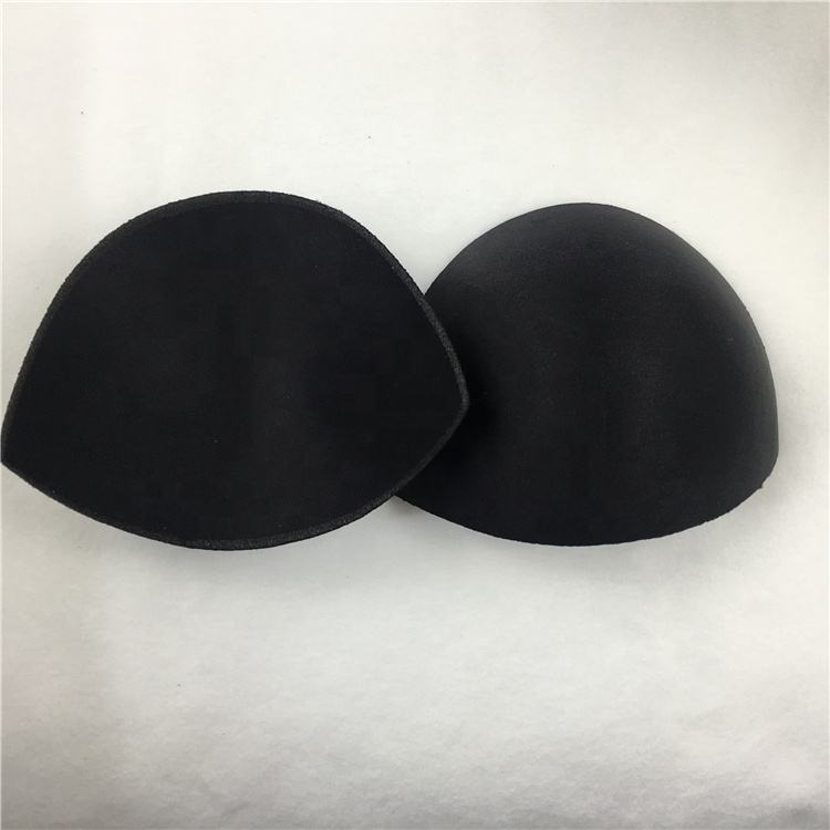 Ladies breast bra cup inserts reusable push up seamless semicircular sponge pad