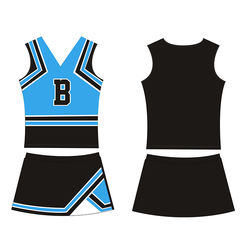 2015 New Arrival Girl Cheerleading Tank Top And Skirt