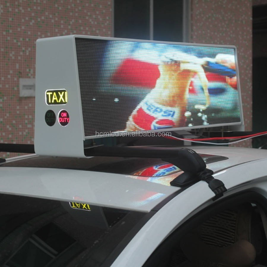 RGB video wireless <span class=keywords><strong>taxi</strong></span>/auto/taxicab geführt oberlicht display