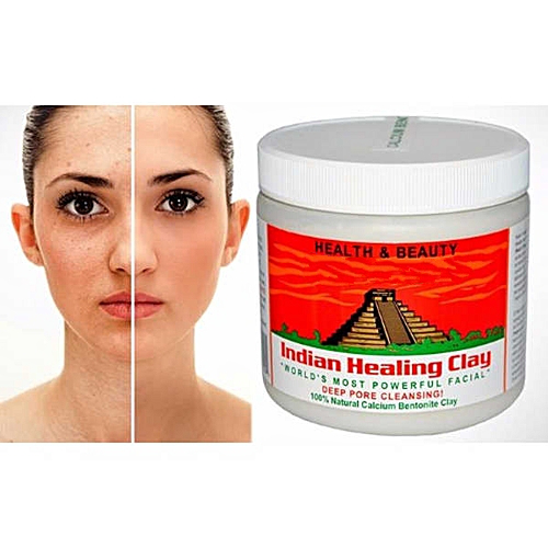 Private Label Indian Clay Mask 100% Natural Calcium Bentonite Clay Deep Pore Cleansing Indian Healing Clay Mask