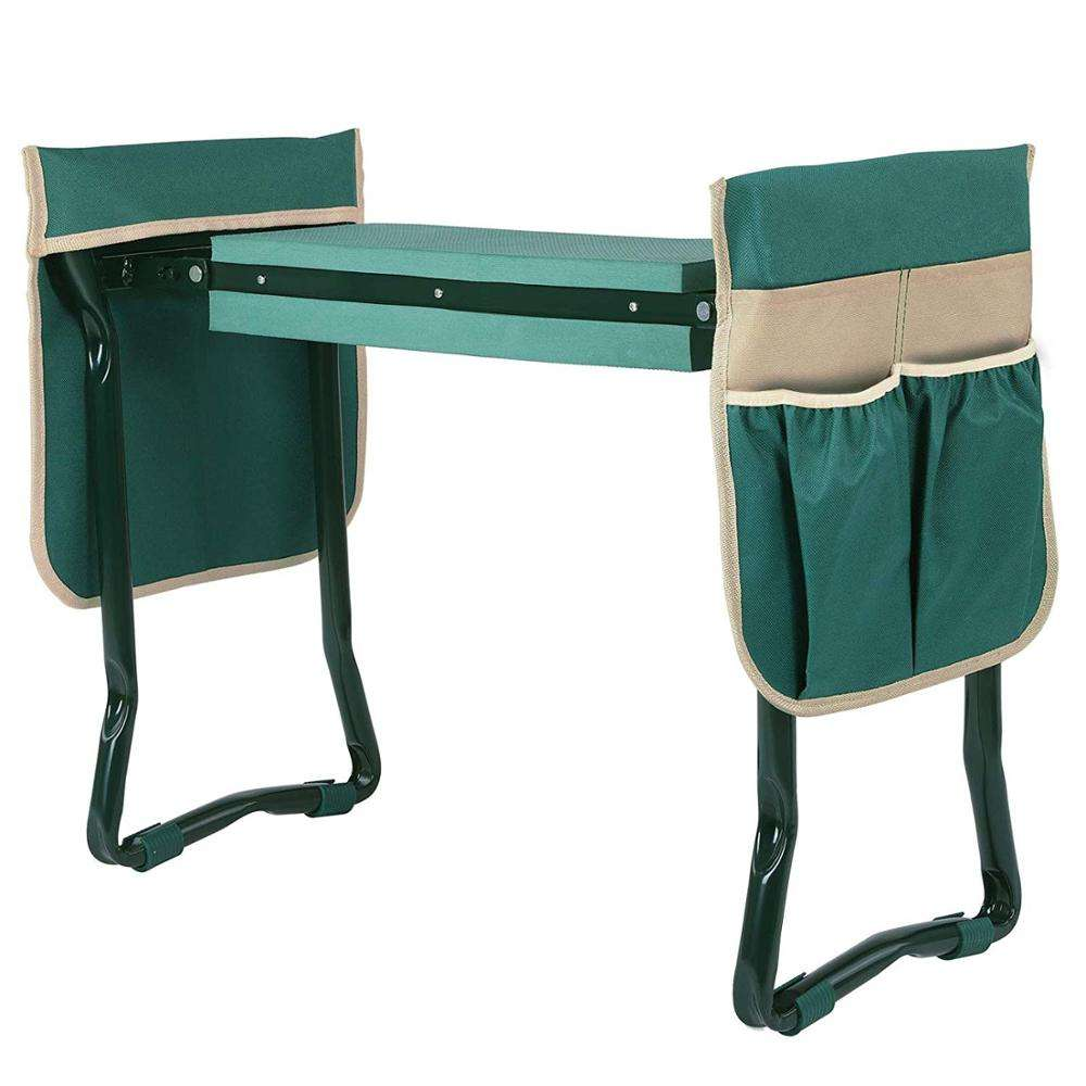 Garden Kneeler Seat Garden Bench Garden Stools Fordable Stool with Tool Bag Pouch EVA Foam Pad Outdoor Portable Kneeler