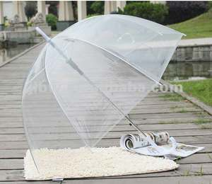 Clear Dome Transparent Umbrella Promotional Women Kid Umbrella