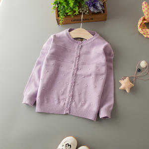 HT-BGSSQ latest good quality knit pattern sweater fancy design baby cardigan fashion child wool sweater