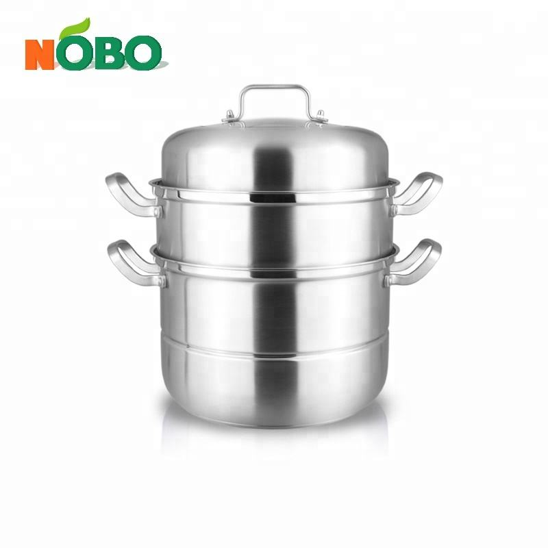 High Quality 3-Tier Multi Steamer Insert Cooking Pot 304 Stainless Steel Food Steamer