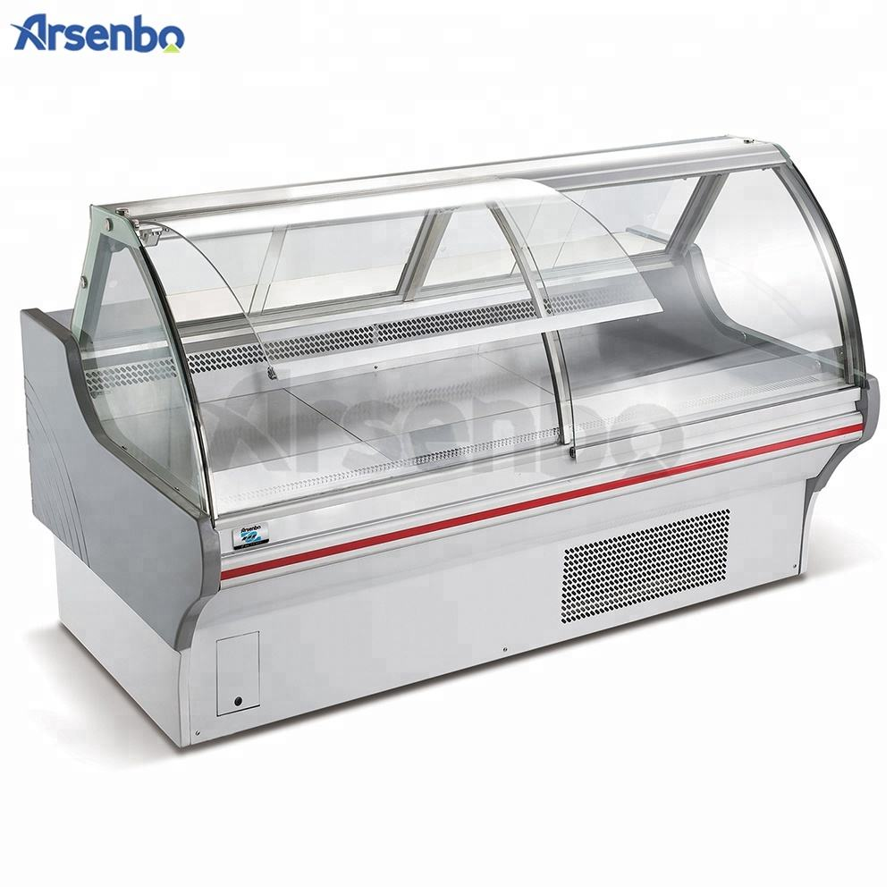 Commercial Deli Counter Refrigerator meat refrigeration equipment Display Case Fridge For Meat Shop