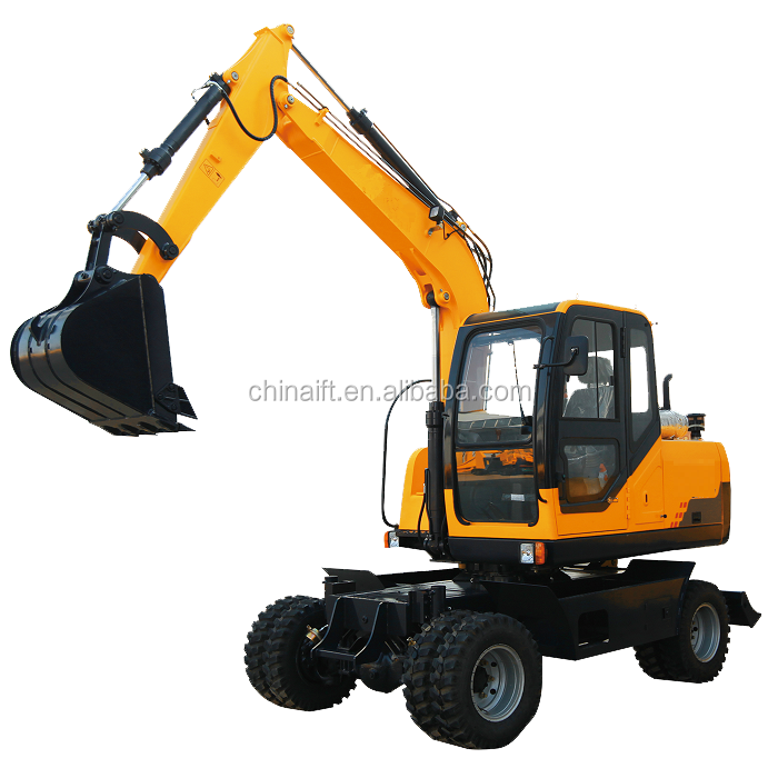 8T tons sugar cane hydraulic grab China long boom mini digger small wheel excavator sale
